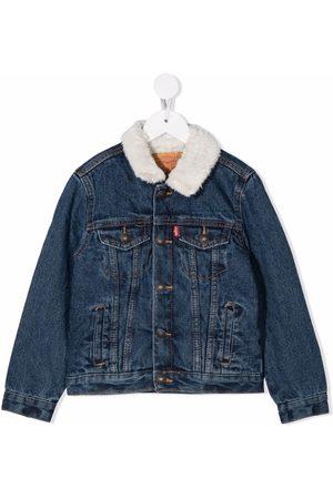 Levi's Kids Boys Denim Jackets - Faux-shearling collar denim jacket