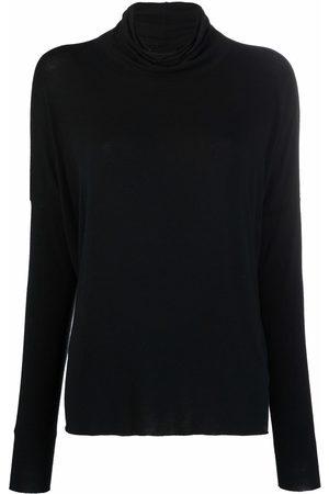 Kristensen Du Nord Women T-shirts - Cowl-neck tonal jersey