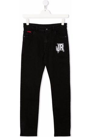 John Richmond Junior Straight - TEEN logo-print straight-leg jeans