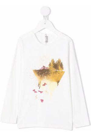 Il Gufo Long-sleeved mountain print T-shirt