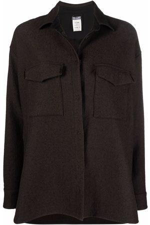 Kristensen Du Nord Women Jackets - Buttoned-up cotton shirt jacket
