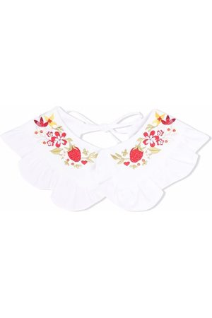 PAADE MODE Girls Blouses - Floral-embroidered ruffled collar