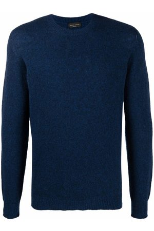 Roberto Collina Men Sweatshirts - Ribbed-knit crewneck sweater