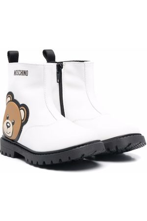 Moschino Kids Girls Ankle Boots - Teddy bear-embellished ankle boots