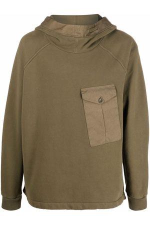 Ten C Men Long sleeves - Pocket-detail long-sleeve hoodie