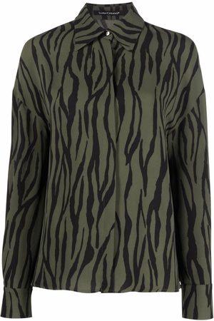 Luisa Cerano Long-sleeved zebra-print shirt