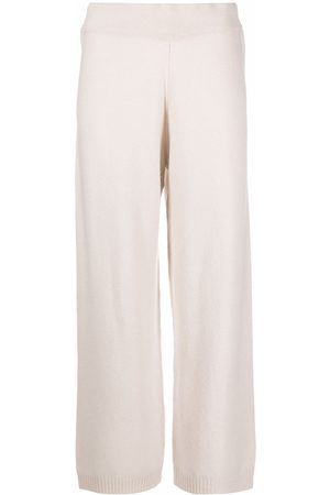 Luisa Cerano Cropped wide-leg knitted trousers - Neutrals