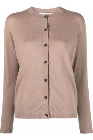 Gentry Portofino Women Cardigans - Fine-knit ribbed-trim cardigan - Neutrals