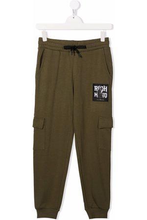 John Richmond Junior Cargo Pants - Teen logo-patch cargo trousers