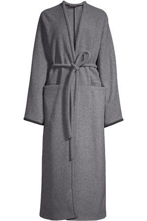 Kassl Wool & Cashmere Long Wrap Coat