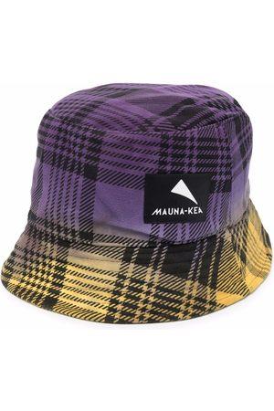 Mauna Kea Check-print logo-patch bucket hat