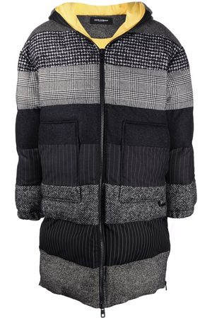 Dolce & Gabbana Stripe pattern padded coat