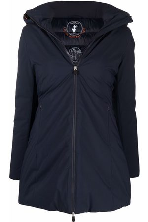 Save The Duck Women Coats - Logo-patch hooded coat