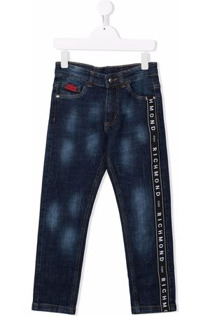 John Richmond Junior Boys Jeans - Logo-stripe jeans