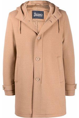 Herno Men Coats - Hooded wool coat