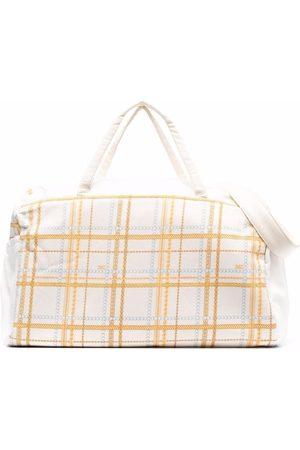 Elisabetta Franchi La Mia Bambina Baby Changing Bags - Checked changing bag