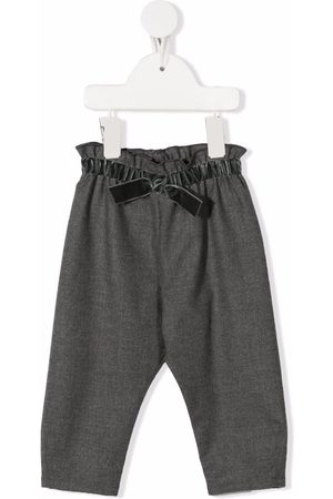 Il Gufo Bow-detail elasticated trousers - Grey