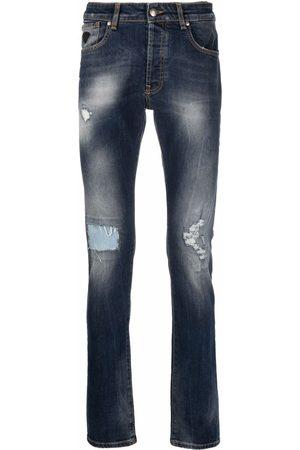 John Richmond Men Slim - Distressed-effect slim-fit jeans