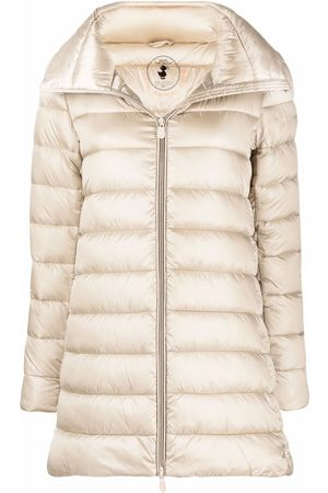 Save The Duck Padded zip-up coat - Neutrals