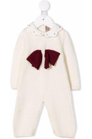 La Stupenderia Baby Rompers - Bow-detail cashmere romper