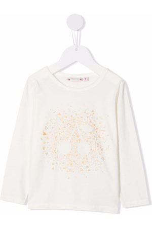 Bonpoint Graphic-print long-sleeved T-shirt - Neutrals