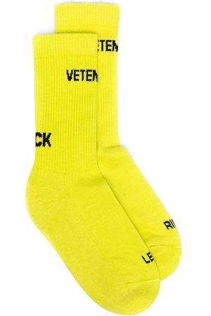 VETEMENTS Intarsia-knit logo ankle socks