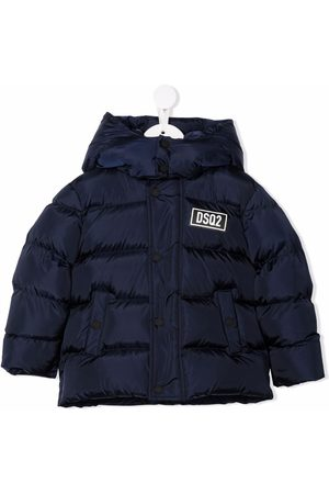 Dsquared2 Kids Boys Puffer Jackets - Logo patch puffer jacket