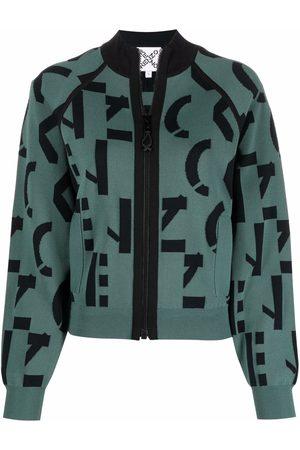 Kenzo Women Bomber Jackets - Logo-print bomber jacket