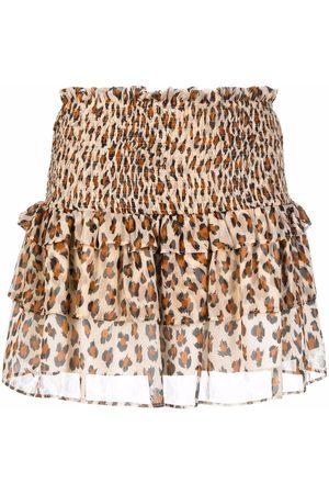 TWINSET Women Printed Skirts - Leopard-print mini skirt - Neutrals