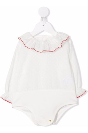 La Stupenderia Baby Blouses - Ruffle-collar long-sleeved blouse