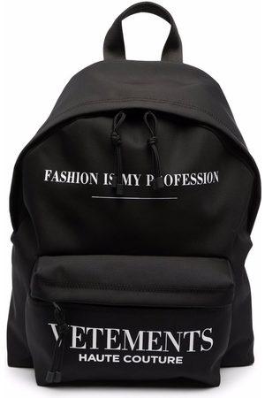 VETEMENTS Men Rucksacks - Logo-print backpack