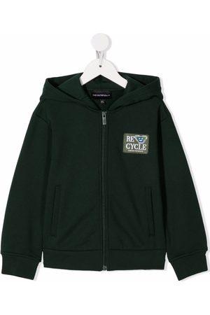 Emporio Armani Kids Boys Hoodies - Logo-patch hoodie