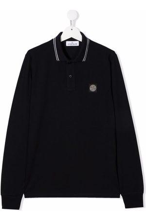 Stone Island Junior Polo Shirts - TEEN logo-patch polo shirt