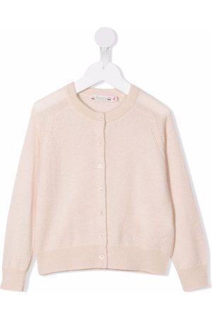 Bonpoint Girls Cardigans - Button-down cashmere cardigan