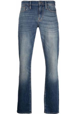 FRAME Men Straight - Stonewashed straight-leg jeans