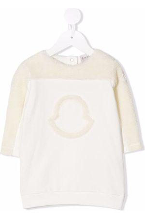 Moncler Enfant Logo-detail long-sleeved jumper dress