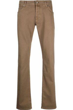Jacob Cohen Men Chinos - Straight-leg cotton chinos - Neutrals