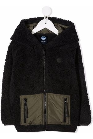North Sails Kids Boys Bomber Jackets - Two-tone faux-shearling jacket