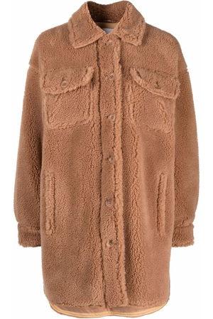 STAND STUDIO Sabi teddy-texture jacket - Neutrals