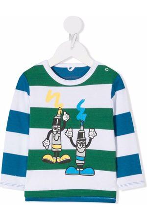 Stella McCartney Kids Long Sleeve - Cartoon-print long-sleeved T-shirt