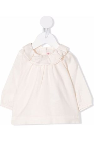 Bonpoint Ruffle long-sleeve blouse - Neutrals