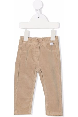 Il Gufo Elasticated velvet trousers - Neutrals