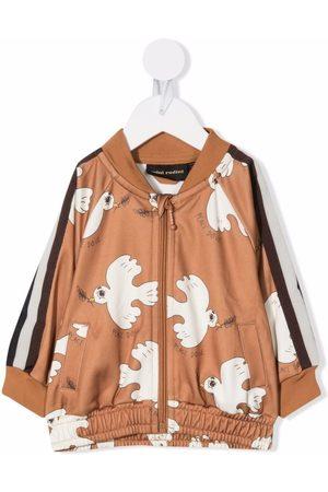 Mini Rodini Peace dove bomber jacket