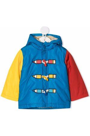 Stella McCartney Kids Puffer Jackets - Colour-block hooded coat