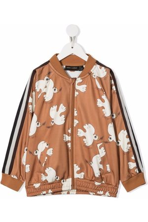 Mini Rodini Girls Bomber Jackets - Peace dove bomber jacket