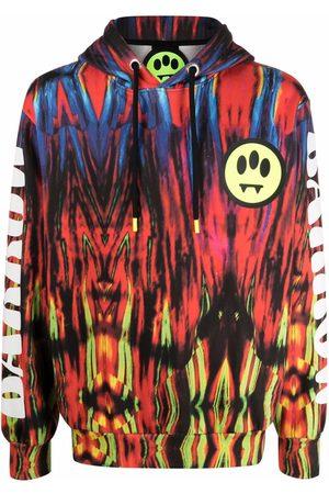 BARROW Abstract logo-print drawstring hoodie