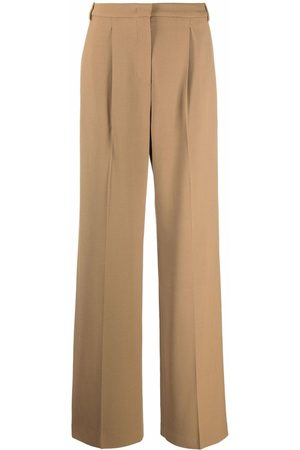 Aspesi Women Formal Pants - Wide-leg tailored trousers - Neutrals