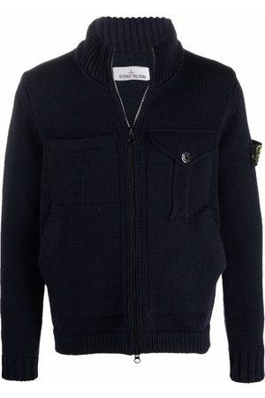 Stone Island Men Cardigans - Zip-up knitted cardigan