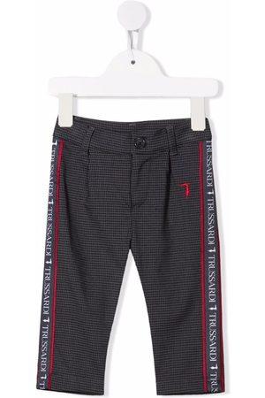 Trussardi Logo check-print trousers