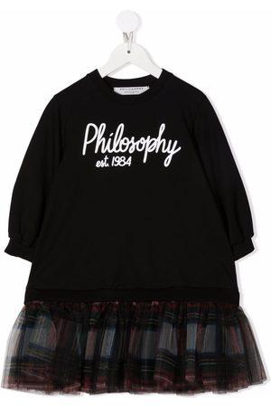 PHILOSOPHY DI LORENZO SERAFINI Girls Casual Dresses - Logo-print sweater dress